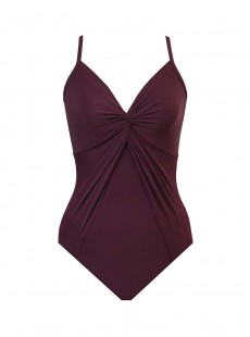 "Maillot de bain gainant Love Knot Bordeaux - Rock Solid - ""FC"" - Miraclesuit Swimwear"