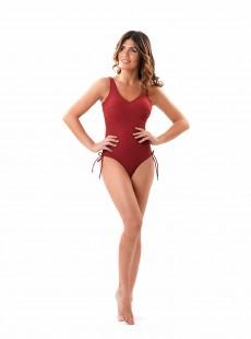 Maillot de bain sculptant 1 pièce Mirabasic Diana Laces - Rouge - Miradonna