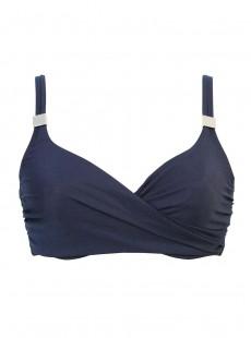 """Haut de maillot de bain Surplice bleu nuit - Solid - """"M"""" -Miraclesuit Swimwear"""