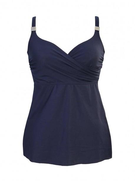 "Tankini Surplice bleu nuit - Solid - ""M"" -Miraclesuit Swimwear"
