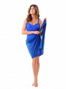 Paréo Mirabasic Sarong Tonga - Bleu - Miradonna