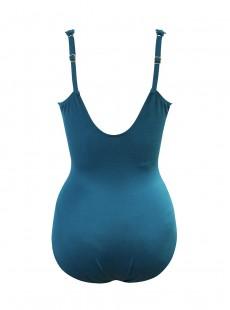 """Maillot de bain gainant Siren Bleu canard -Razzle Dazzle -  """"M"""" -Miraclesuit Swimwear"""