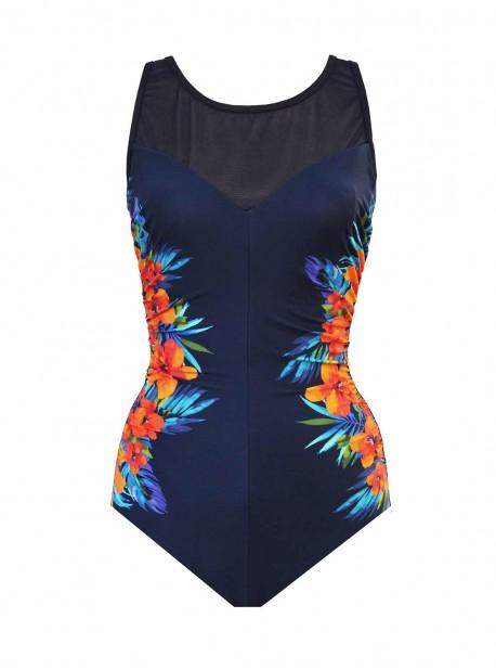 "Maillot de bain gainant Fascination - Samoan Sunset - ""W"" -Miraclesuit Swimwear"