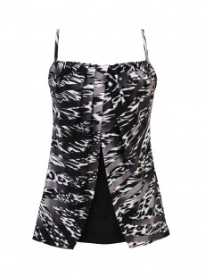 "Tankini Jubilee - Feline Fixation - ""M"" - Miraclesuit Swimwear"