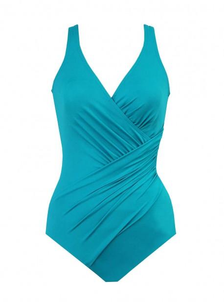 "Maillot de bain gainant Oceanus Bleu Clair - Must haves -  ""W"" -Miraclesuit Swimwear"