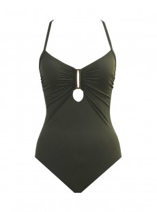 Maillot de bain lissant 1 pièce Nothern Cross Olive - Eclipse - Amoressa