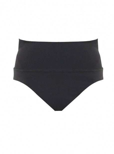 Culotte de bain taille haute Gimlet Noir - Amoressa