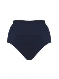 Culotte de bain lissante taille extra-haute Martini Bleu Marine - Crete - Amoressa