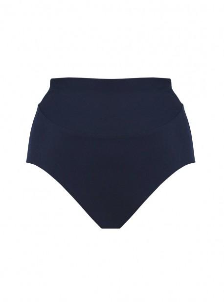 Culotte de bain taille extra-haute Martini Bleu Marine - Comet - Amoressa