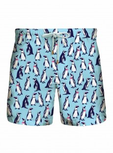 Short de bain Bleu Clair Originals - Penguins - Granadilla