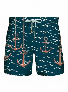 Short de bain Bleu Foncé Originals - Red Anchors - Granadilla