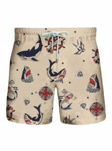 Short de bain Beige Originals - Sharks - Granadilla