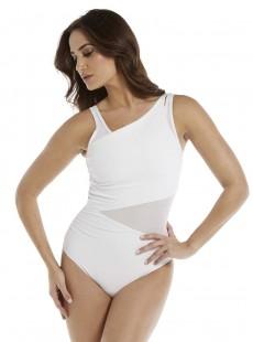 "Maillot de bain gainant Azura Blanc - Illustionists - ""M"" - Miraclesuit Swimwear"