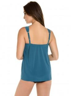 "Tankini Dazzle Bleu Canard - Razzle Dazzle - ""M"" -Miraclesuit Swimwear"