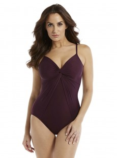 "Maillot de bain gainant Love Knot Bordeaux - Rock Solid - ""M"" - Miraclesuit Swimwear"