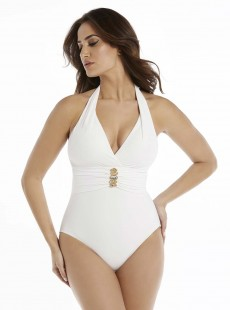 "Maillot de bain gainant Rockstar Blanc - Rock Solid - ""M"" -Miraclesuit Swimwear"