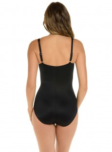 "Maillot de bain gainant Zip code Noir - So Riche - ""M"" - Miraclesuit swimwear"