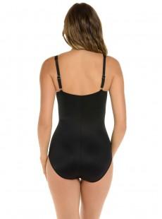 "Maillot de bain gainant Zip code Noir - So Riche - ""M"" - Miraclesuit swimwear"