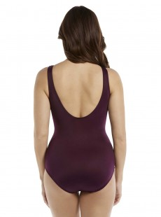 "Maillot de bain gainant Oceanus Bordeaux - Must haves - ""W"" -Miraclesuit Swimwear"