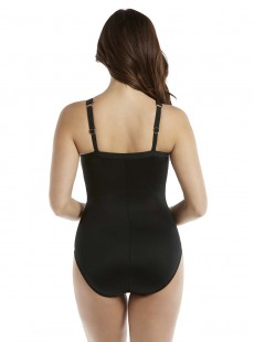 "Maillot de bain gainant Zephyr -Castaway Stripe - ""M"" -Miraclesuit Swimwear"