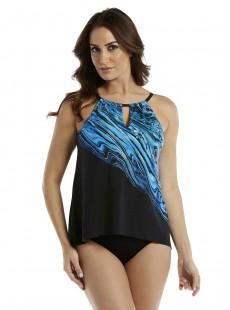 "Tankini Peephole - Blue Pointe -""M"" -Miraclesuit Swimwear"