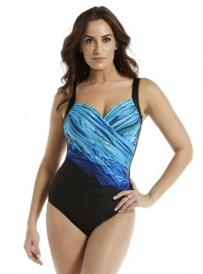 "Maillot de bain gainant Sanibel - Blue Pointe -""M"" -Miraclesuit Swimwear"