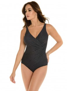 "Maillot de bain gainant Oceanus Noir - Must haves - Pin point - ""W"" -Miraclesuit Swimwear"