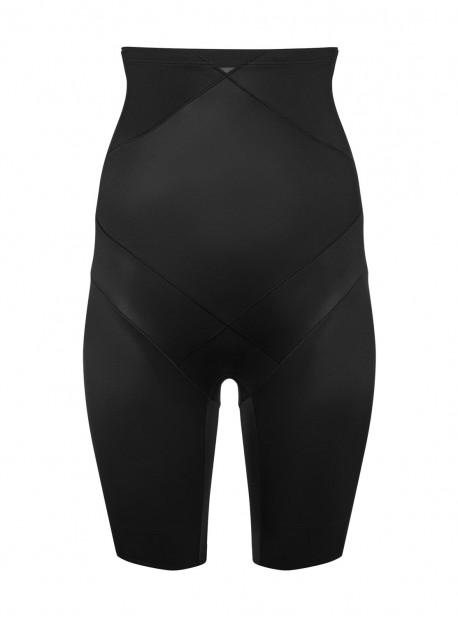 Panty gainant taille haute Noir - Cross Control X-Firm - Miraclesuit Shapewear