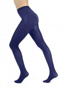 Collants 120 Deniers Opaques Bleu - Pamela Mann