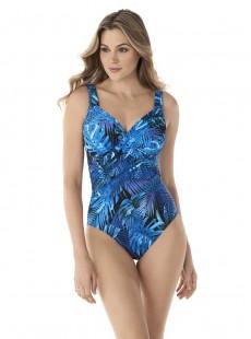 """Maillot de bain 1 pièce gainant Revele Imprimé bleu - Royal Palms - """"M"""" - Miraclesuit Swimwear"""
