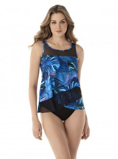 "Tankini Mirage bleu - Royal Palms - ""M"" - Miraclesuit Swimwear"
