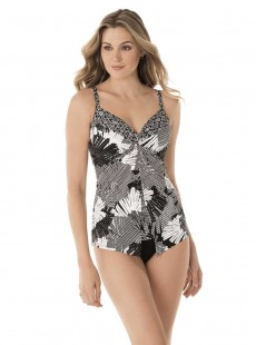 "Tankini Love Knot imprimé gris / blanc - Love Knot - Moonlight at the oasis - "" M "" - Miraclesuit Sw"