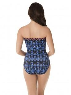 """Maillot de bain gainant Avanti bleu / orange - Vesuvio - """" M """" - Miraclesuit Swimwear"""