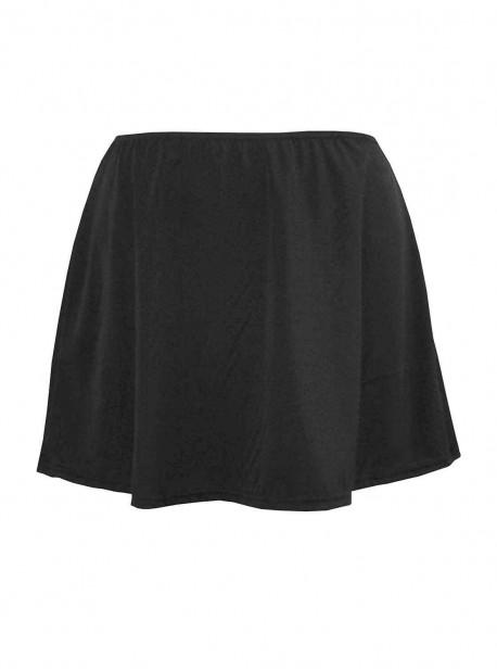 "Jupe de bain Skirted Pant Noir - Solid Bottoms - "" M "" - Miraclesuit Swimwear"