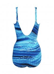 """Maillot de bain une pièce gainant Seraphina Imprimé bleu - Atlantis - """"M"""" - Miraclesuit Swimwear"""