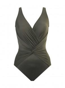 "Maillot de bain 1 pièce gainant Twister vert - Rock Solid - "" M "" - Miraclesuit Swimwear"