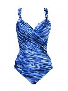 "Maillot de bain 1 pièce gainant Siren bleu - Lynx Lazuli - "" M "" - Miraclesuit Swimwear"