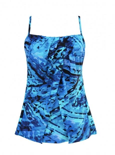 "Tankini Jubilee bleu - Turning Point - "" M "" - Miraclesuit Swimwear"