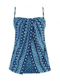 "Tankini Jubilee imprimé bleu - Mosaica - "" M "" - Miraclesuit Swimwear"