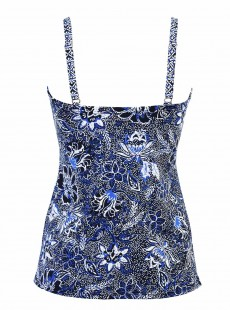 "Tankini Love Knot imprimé fleuris bleu - Provence d'azur - "" M "" - Miraclesuit Swimwear"