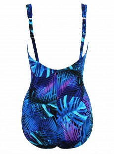 """Maillot de bain 1 pièce gainant Seraphina imprimé bleu - Royal Palms - """" M """" - Miraclesuit Swimwear"""