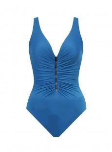 "Maillot de bain gainant Charmer Bleu Canard - New revelations  - ""M"" - Miraclesuit swimwear"