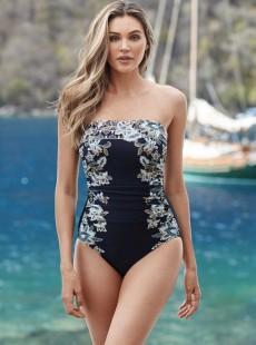 """Maillot de bain gainant Avanti Noir et Blanc - Cloisonné - """"M"""" - Miraclesuit swimwear"""