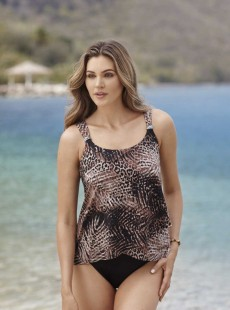 "Dazzle Tankini Top Sauvage - Tigris - ""M"" - Miraclesuit swimwear"
