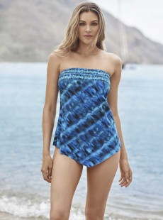"Hankini Tankini Top Multicolor - The Beach Goes On - ""M"" - Miraclesuit swimwear"