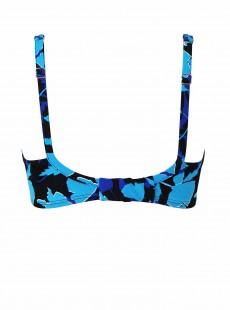 "Haut de maillot de bain Surplice Bleu- Petal Play - ""M"" -Miraclesuit Swimwear"
