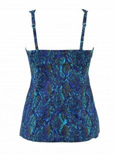 "Tankini Plunge Multicolor - Basilisk- ""M"" -Miraclesuit Swimwear"
