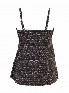"Myrra Tankini Top Bronze- Byzantium - ""M"" - Miraclesuit swimwear"