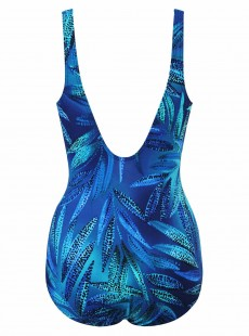 "Maillot de bain gainant New Hidden Treasure Bleu - Best Fronds Ever - ""M"" - Miraclesuit swimwear"