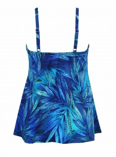 "Marina Tankini Top Bleu - Best Fronds Ever - ""M"" - Miraclesuit swimwear"